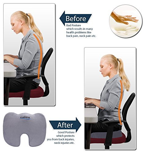 Cushina 174 Memory Foam Seat Cushion Good For Your Back