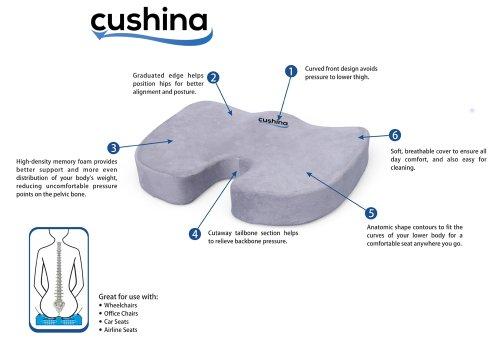 Cushina 174 Memory Foam Seat Cushion Good For Your Back