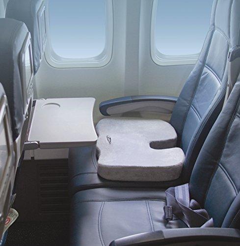Gray Aylio Coccyx Orthopedic Comfort Foam Seat Cushion